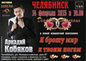 Аркадий Кобяков 14 февраля 2015 года