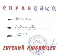 Евгений Любимцев «Справочка» 2018