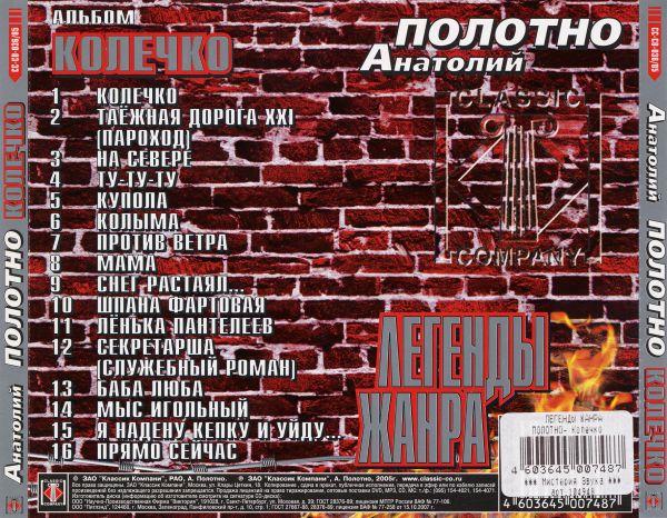 Анатолий Полотно Легенды жанра 2005 (CD)