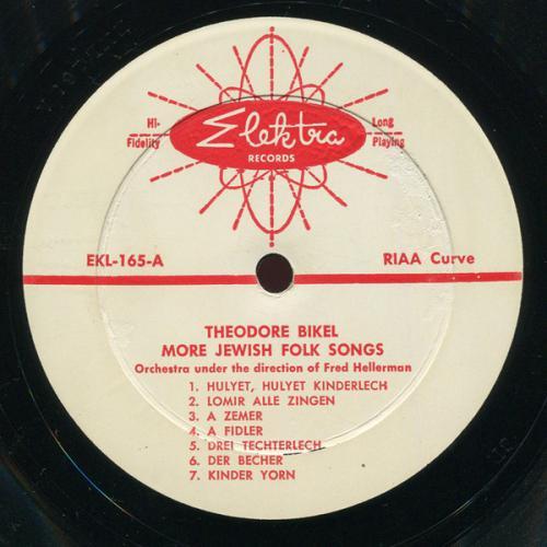 Теодор Бикель Theodore Bikel Sings More Jewish Folk Songs 1959
