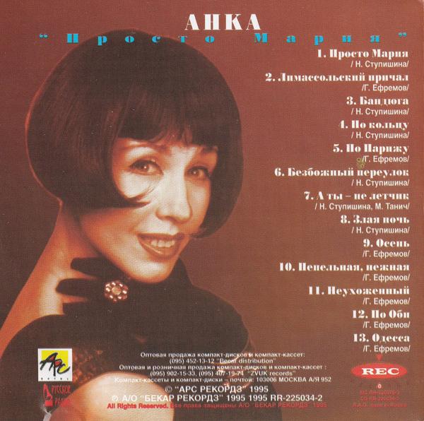 Анка Просто Мария 1995 (CD)