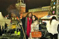 Аленa Андерс с Никитой Джигурдой. Совместное выступление в Новгоднем концерте на Красной площади 2013г.