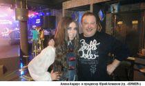 Аленa Андерс с продюсером Ю.Алмазовым на съемках для т-к Муз-ТВ.2013г.