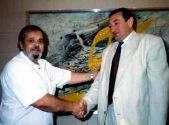 Евгений Кричмар в кабинете Эдуарда Гурвица в 1994 г.