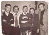 Киевский концерт Аркадия Северного и Гриши Бальбера,  20 апреля 1977 года. На фото: Лёня Полищуков,  Григорий Бальбер,  Аркадий Северный,  Наум Зигман,  Саша Фельдман