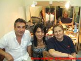 С Мариной Александровой и Катей Огонек. Фестиваль шансона в Риге,  август 2007 г.