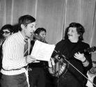Аркадий Северный и Николай Резанов во время записи,  1977г