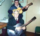 Константин Беляев и Александр Волокитин. Перед концертом в Олимпийской Деревне 5 ноября 1999 года