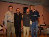 Александр Фельдман,  Дмитрий Лумельский,  Борис Берг,  Леонид Каушанский. Израиль,  октябрь 2005