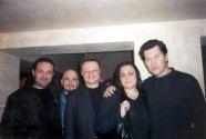 На гастролях в Питере. Гарик Кричевский,  Сергей Трофимов и Владимир Черняков с женой.