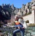 Испания. 27 сентября 2004 года. Монастырь Монсерат,  расположенный в горах,  недалеко от Барселоны.